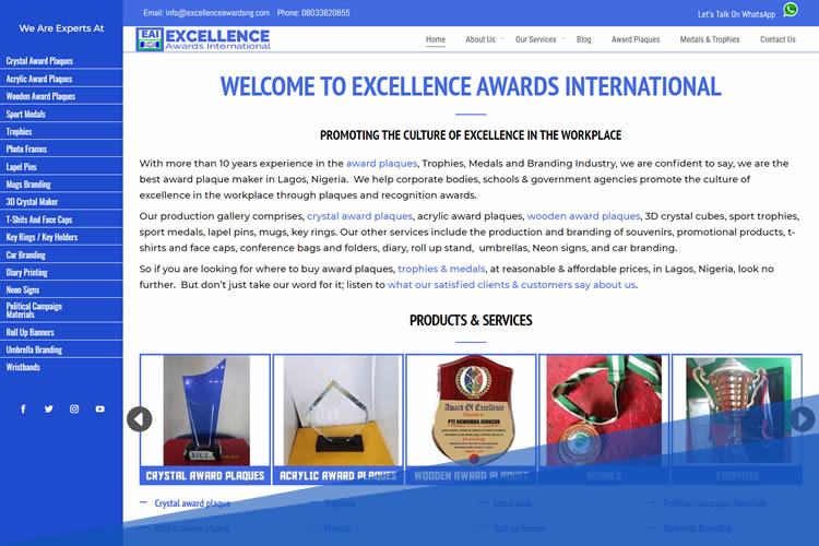 excellence awards international by dot dauntless