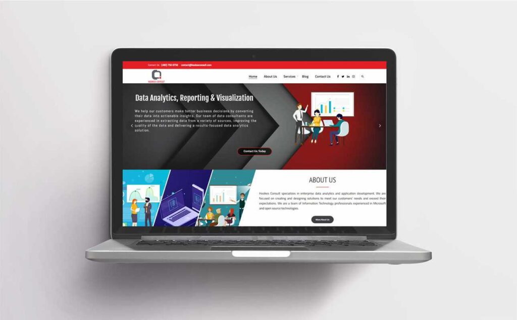 Web design for Hookes Consult
